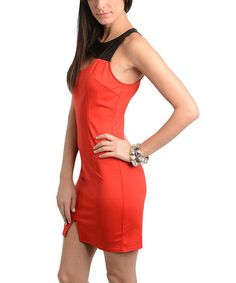 This Red & Black Cutout Dress is perfect! #zulilyfinds