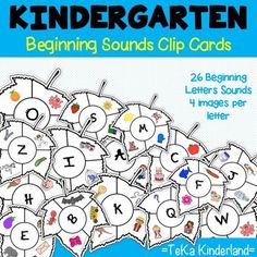 Beginning sound clip cardsThis set was created to help students master letter recognition and letter sounds. The resources included in this set will help to provide your students to master letter sounds. This clip card set includes 26 letter sounds.This packet is for Pre-K and Kindergarten student... Interactive Activities, Alphabet Activities, Literacy Activities, Teaching Resources, Teaching Letter Sounds, Teaching Letters, Phonemic Awareness Activities, Sound Clips, Initial Sounds