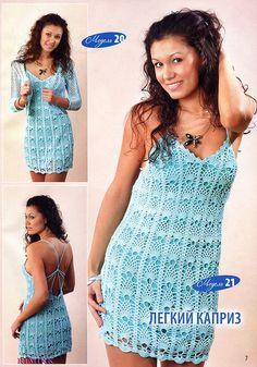 Crochet Cover Up/Dress ~ Diagrams/Charts ~ Not in English | Inspirações de Croche com Any Lucy: Vestido