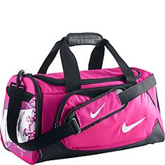 15c6a9814a Nike Young Athletes Team Training Small Duffel - Pink Foil Black (White)
