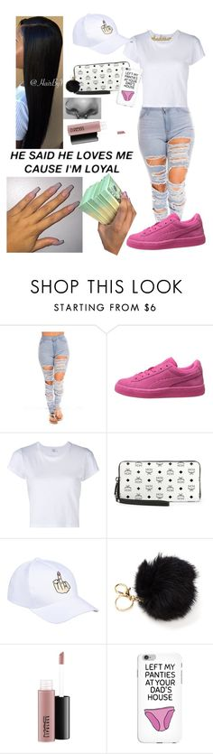 """""""💅🏾"""" by justcallmela ❤ liked on Polyvore featuring RE/DONE, MCM, MAC Cosmetics and Kris Nations"""