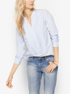 c1fa35c606225b Pintuck pleating and a split neckline define this classic cotton tunic.  Wear this off-the-clock classic year-round opposite relaxed boyfriend jeans.