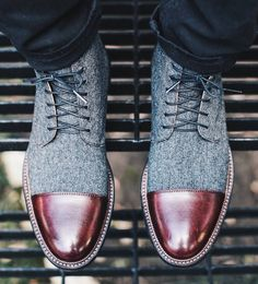 Jack Boot  Grey/Oxblood  It is one of the first styles we released and continues to be a best-seller.