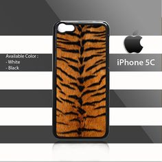 Skin Tiger Pattern iPhone 5c Rubber Case Cover