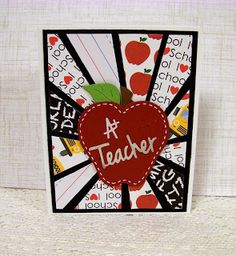 Ann Greenspan's Crafts: Sunburst Pattern with background showing Teacher Thank You Notes, Teacher Cards, Great Teacher Gifts, Scrapbooking, Scrapbook Cards, Frantic Stamper, Presents For Teachers, Paper Flower Backdrop, Graduation Cards