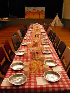 Cowgirl Party table
