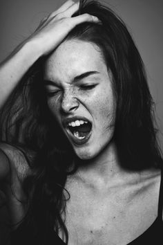 jessica sikosek • raul romo | fashion | freckles | yawn | tired | sleepy | black & white photography |