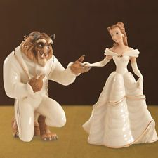 Wedding cake topper. Beauty and the beast