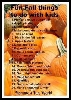 Fun Fall things to do with kids