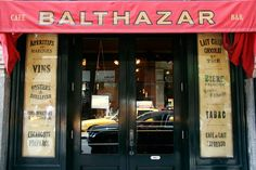 Balthazar - 80 Spring Street The famed French brasserie stands in for fictional hot spot Balzac where the hostess of the restaurant du jour doesn't seem to know, or care, who Carrie and Samantha are. After Carrie lends the hostess an emergency tampon in the ladies bathroom, they never have a problem getting a table.