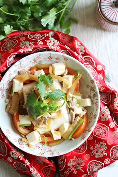 Teochew Steamed Fish. A popular steamed fish recipe with preserved mustard green and tomatoes.