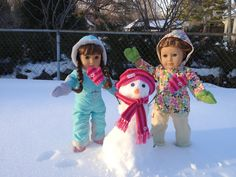 Read about Molly's and Emily's fun in the snow on my blog-- i'll never grow up: BFF Adventures: American Snow Girl