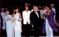 1984 - Antoinette, Caroline, Albert, Rainier and Stephanie at the Red Cross Ball