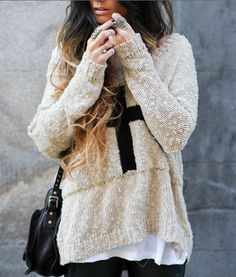 I love oversized sweaters, they are just so huge and fuzzy