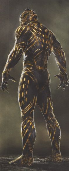 BLACK PANTHER: The new concept of jaw art reveals alternative designs for the Panther suit by Killmonger - Marvel Comics Bd Comics, Marvel Dc Comics, Marvel Heroes, Marvel Characters, Marvel Movies, Marvel Avengers, Black Panther Art, Black Panther Marvel, Dark Panther