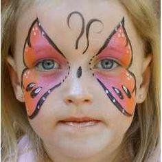 butterfly fantasy makeup face painting art - mariposa maquillaje fantasia pintacaritas ♛