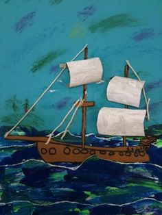 mixed media - love the sails! pirates wk