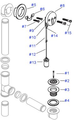 bathtub plumbing diagram exploded parts kitchens bath rh pinterest com