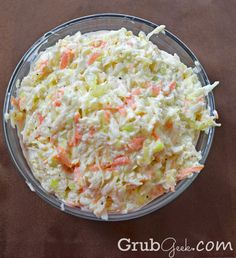 Buttermilk Coleslaw recipe - great summer side dish or topping for hot dogs, burgers and other sandwiches!