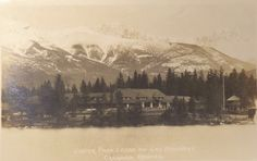 Jasper Park Lodge from the lake 1925
