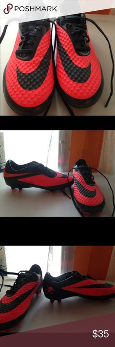 Nike hyper venom soccer cleats Never worn, in perfect condition soccer cleats. Navy and pink Nike Shoes Athletic Shoes