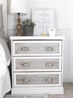 These Ikea nightstand hacks are some of the most creative ones you will see! Get inspiration for your own Ikea Rast nightstand hacks. Refurbished Furniture, Upcycled Furniture, Shabby Chic Furniture, Home Furniture, Furniture Removal, Furniture Buyers, Furniture Dolly, Furniture Online, Furniture Stores