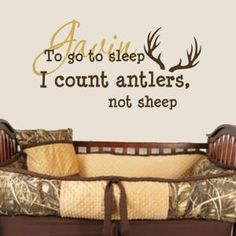 Personalized - To Go To Sleep I Count Antlers Not Sheep Wall Decal www.isignsdecalstudio.com