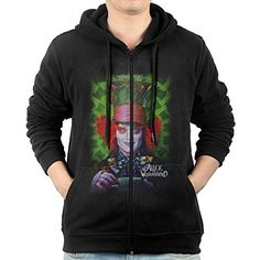 Mens Alice In The Looking Glass Poster Mr Rabbit ZipUp Hoodie Sweatshirt ** Read more reviews of the product by visiting the link on the image.