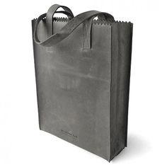 MYOMY PAPER BAG Long Handle Off Black