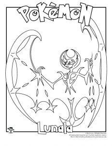 Lunala Coloring Page Pokemon Og Tegninger