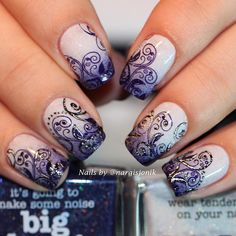 """""""@picturepolish #Lakodom by @polina_koroleva ❤️ and #BigBang by @faustgil Closer Look ☺️ Thanks to @Lakodom for this beauties . Stamping with…"""""""