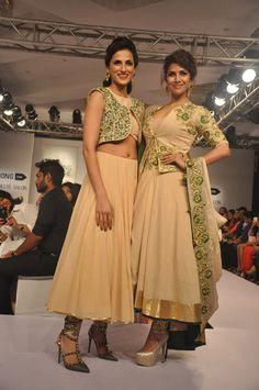 Nimrat Kaur walked the ramp for Shilpa Reddy