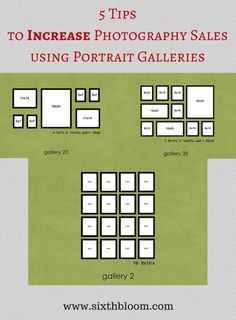 5 Tips to Increase Photography Sales using Portrait Galleries, Photography Business, Photography Sales, Photography Tips, Photography Tutorial