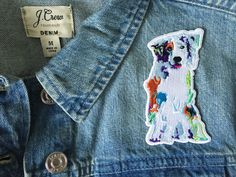 """Aussie patches have hit the free in the lines shop and are ready to wear. these little iron-on darlings are about 4"""" tall and a perfect way to show your breed support!"""