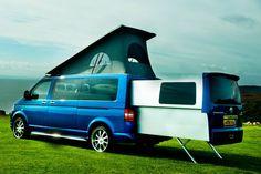 VolksWagen Transporter DoubleBack Luxury Camper--I want Volkswagen Transporter, T5 Transporter, Vw T5, Transporteur Volkswagen, Vw T3 Syncro, Vans Vw, Vw Camper, Barbie Camper, Vw Doubleback