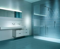 Photo Deco : Salle de bains  Blanc  Moderne   Visuels Salle De Bains