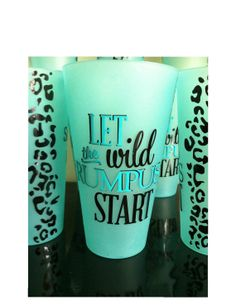 Wild Cheetah Print Personalized 22 oz Plastic Cups by PYdesigned, $7.00