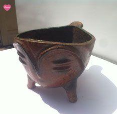 pot Accolay, céramique sur pied tripode