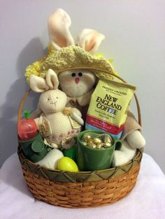 Wine gifts 30 ebay frozen happy easter olaf gift basket 30 ebay bunny friends coffee easter gift basket handmade negle Images