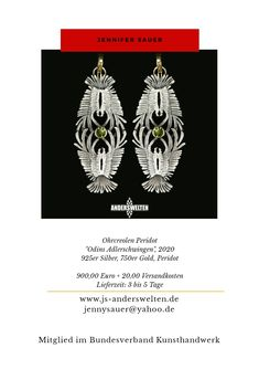 www.js-anderswelten.de Peridot, Playing Cards, Gold, Studio, Arts And Crafts, Silver, Playing Card Games, Peridots, Studios