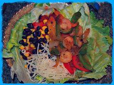 Undressed Skeleton Shrimp Fajita lettuce wraps. Look DIVINE