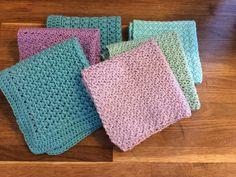 Crochet Kitchen, Crochet Home, Love Crochet, Learn To Crochet, Knit Crochet, Crochet Potholders, Cotton Pads, Yarn Projects, Crochet For Beginners