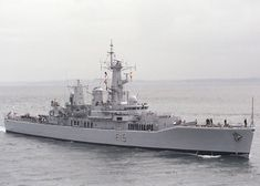 Euryalus pictured entering Portsmouth Harbour on 30th April 1988