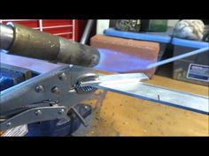 """A beginner's guide to """"welding"""" (brazing) aluminum with alumiweld rods. Links to the Tools and Materials Leah Uses in This Video: Alumiweld Brazing Rods: htt. Welding Aluminum, Metal Welding, Welding Jobs, Diy Welding, Welding Ideas, Shielded Metal Arc Welding, Welding Design, Welding Training, Welding Process"""