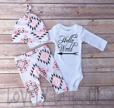 Baby Outfit Set Baby Girls Coming Home Outfit by Lovelylittlesco (scheduled via http://www.tailwindapp.com?utm_source=pinterest&utm_medium=twpin&utm_content=post88060279&utm_campaign=scheduler_attribution)