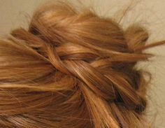 braided bun is one of my go-tos. pull hair up, braid the ponytail (or part of the ponytail) & wrap into a bun, secure with bobby pins.