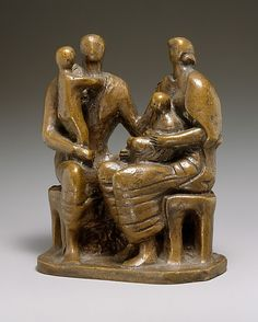 Family Group Henry Moore (British, Castleford 1898–1986 Much Hadham) Date: 1944 Medium: Bronze Dimensions: 5 7/8 x 5 x 2 3/4 in., 4lb. (14.9 x 12.7 x 7 cm)