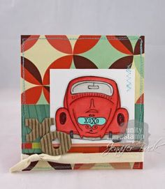 unity stamp company. kit used - Love Bug - card created by unity design team member Jen Buck.