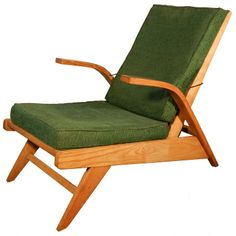Gustave Gautier; Lounge Chair, 1950s.
