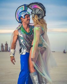 @illuminatedcouture never stop to impress me What a magical picture by @lizzierosemedia at Burning Man. When two artists combine their talent all you see is magic